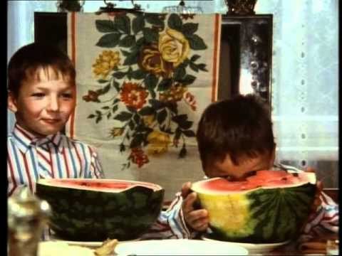 Zwei fröhliche Jungs aus dem 'Fröhlichen Dorf'